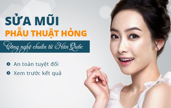 Sửa mũi phẫu thuật hỏng công nghệ chuẩn từ Hàn Quốc