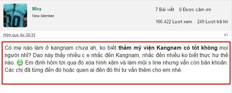 Thẩm mỹ viện Kangnam có tốt không